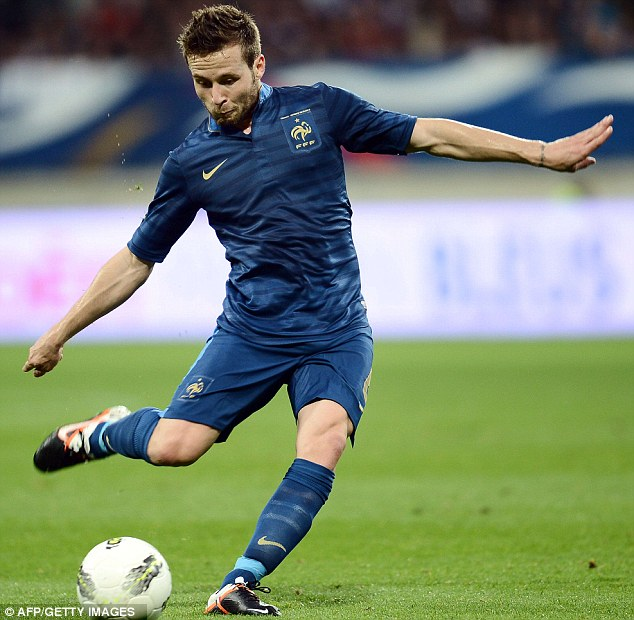 Fatigue: Cabaye suffered the effects of the domestic season when he joined up with France for Euro 2012