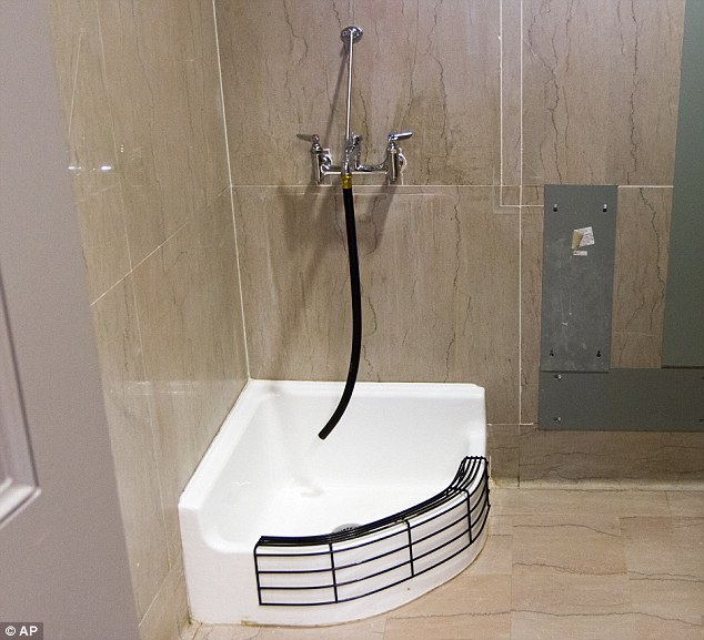 Confused: Republican lawmakers from Tennessee expressed concerns that a recently installed mop sink at the State Capitol Complex was actually a basin for Muslims to wash their feet before praying