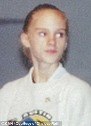 Deteriorating health: There are no pictures of Miss Roth at her sickest, but this image was taken a year before she was hospitalized aged 15 when she was in and out of treatment centers