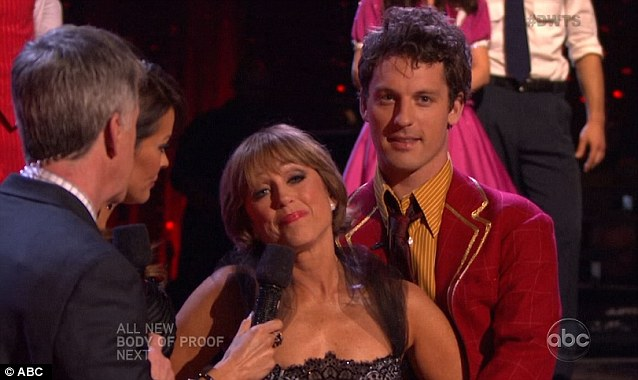 Emotional mood: Dorothy and partner Tristan MacManus had made it through to the next round before she quit