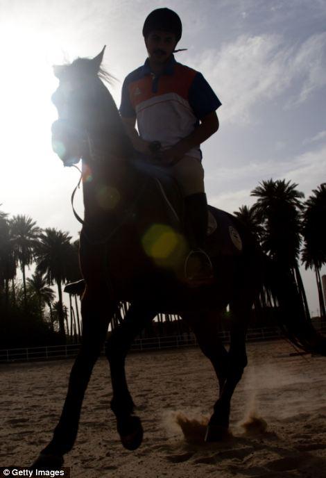 Ali Satar rides horses for pleasure in the upscale district of Karada