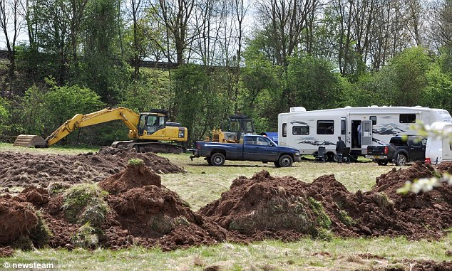 The traveller's site in 2010. They moved into the area on a weekend with caravans, steam rollers, diggers and other earth-moving equipment