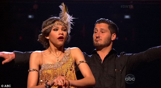Tweet smell of success: Val Chmerkovskiy and Zendaya performed their dance again after fans voted for an encore rendition