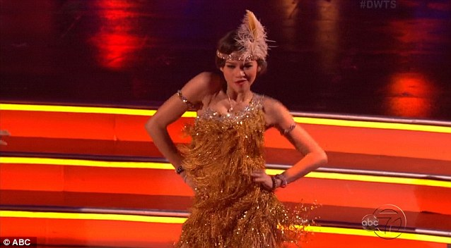 Flapper style: Zendaya has cut an impressive figure in the dance contest so far