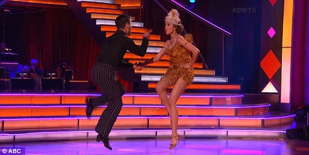 Doing the jive: Val and Zendaya enthusiastically performed their number again
