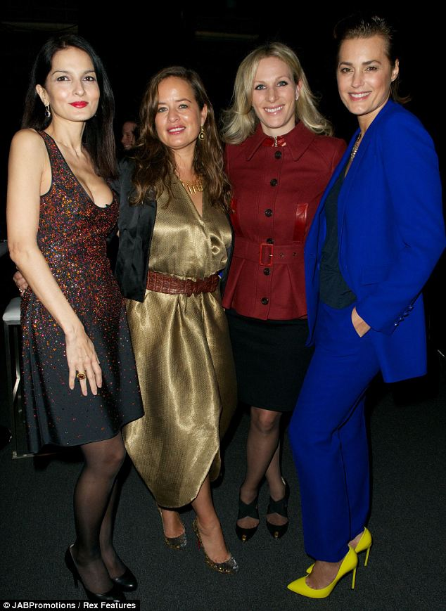 Catching up: Yasmin Mills, Zara Phillips and Yasmin Le Bon hung out with Jade, all showing off their different styles