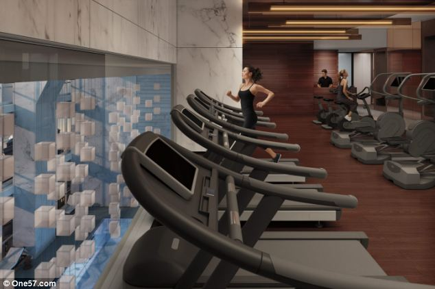 Glamour: Designed by a Pritzker prize-winning architect, the design also includes a gym