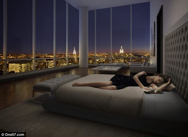 Views: The building will offer stunning vistas but the enormous structure will block the view from other nearby luxury buildings, which are expected to see their prices fall