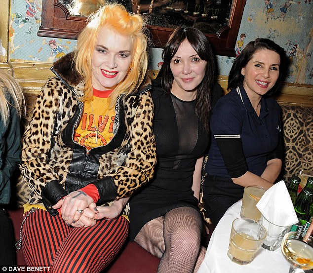 Three queens: Pam Hogg, Annabelle Neilson and Sadie shared a table at the rather interesting event