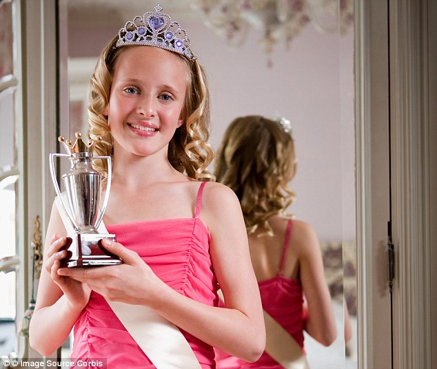 Miss Mini Princess UK encourages girls to 'show your poised elegant stance in a prestige evening dress'