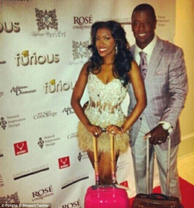 Over: Porsha discovered her former NFL star husband had filed for divorce this week on the internet