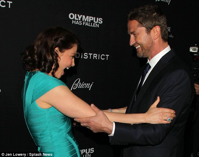 Judd embraced Olympus Has Fallen co-star Gerard Butler at the film's premiere on March 18 in Los Angeles