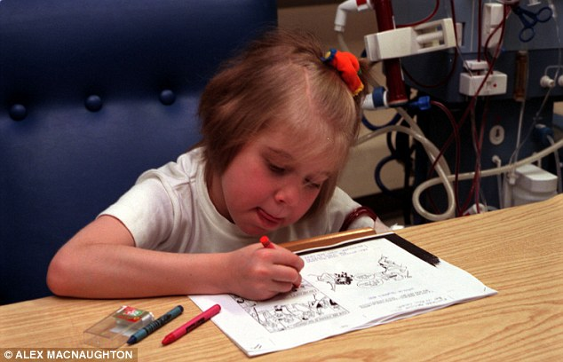 Support: Sick children, such as this little girl at Great Ormond Street hospital, need extra care