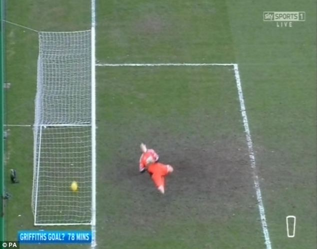 And another: Hibs striker Leigh Griffiths saw this goal ruled out at in mid-March