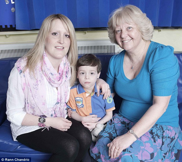 Heroic: Nurse Rosie Chisnell (right) has been nominated for a Health Hero Award by Claire Rumble for the care of her son Louis