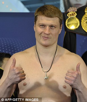Thumbs up for Haye? Alexander Povetkin