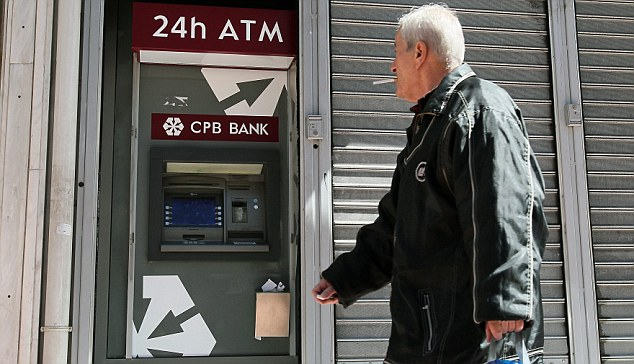 Re-opening: Residents of Cyprus were able to withdraw money from banks days after a ¿10billion bailout of its banking system was agreed.