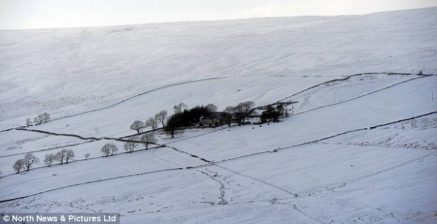 Isolated: Mr and Mrs Collingwood last saw their boys Ben and Jake last Wednesday as they left their home at Stewart Shield Farm (pictured) on Stanhope Common in County Durham to live elsewhere to get to school