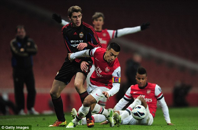 Making strides: Nico Yennaris has already made three appearances for Arsenal's first team