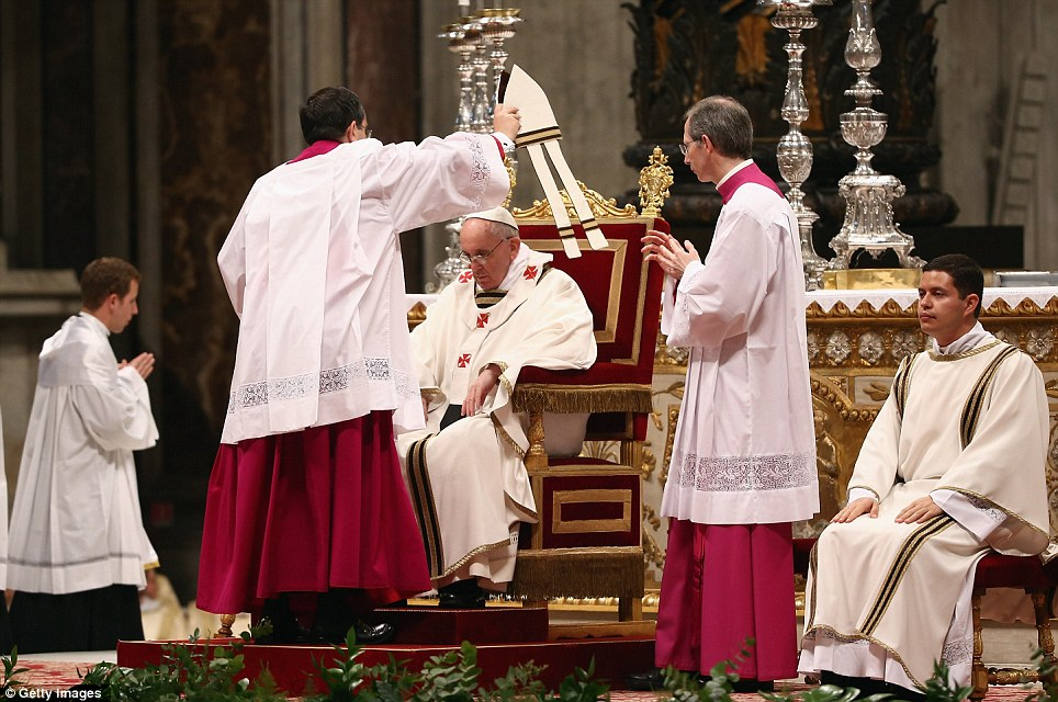 Tradition: Newly-appointed Pope Francis has begun the Christian traditions leading up to Easter during his first holy week as pontiff