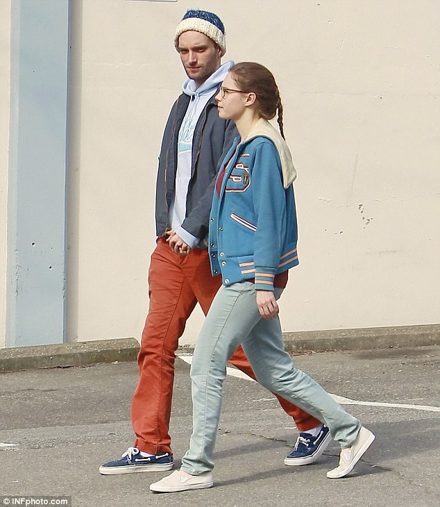 Couple: Amanda Knox holds hands with her boyfriend James Terrano in downtown Seattle