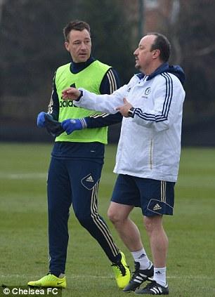 Ready to go: John Terry with Rafa Benitez