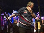 Phil Taylor was allegedly spat on before his Premier League darts match with Raymond Van Barneveld