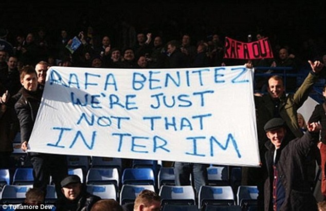 Play on words: Chelsea fans react to Rafa Benitez's 'interim manager' post