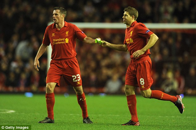 Another year: Jamie Carragher (left), Steven Gerrard and Co have missed out on a top four spot again