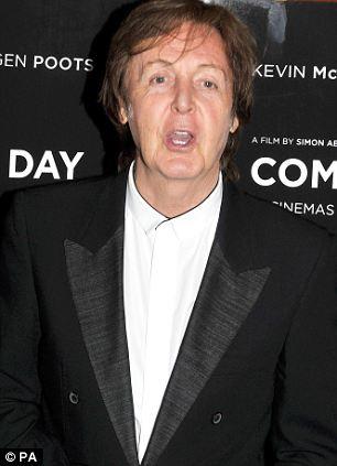 Star: Paul McCartney pictured last year