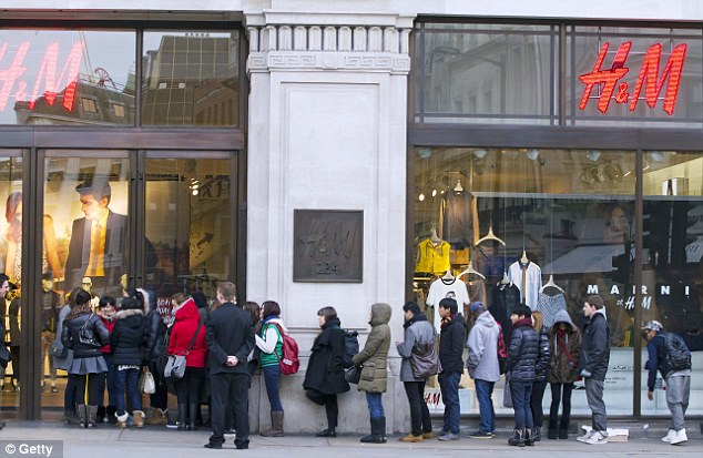 Lining-up: So far, H&M only offers online shopping to customers in eight of its 48 markets around the world: Sweden, Norway, Denmark, Finland, Germany, the Netherlands, Austria, and the U.K.