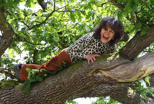 The wild child in her natural habitat. Bolton Abbey, North Yorkshire, 2009