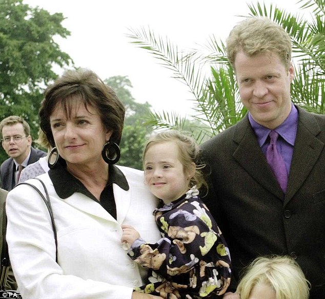Royal friends: Rosa Monckton holds Domenica, alongside Earl Spencer at the opening in London of the Princess Diana memorial garden. Diana was Domenica's godmother