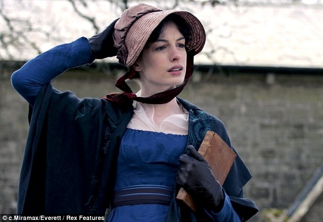 Anne Hathaway as Jane Austen in the film 'Becoming Jane'
