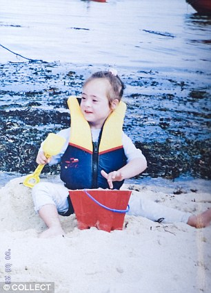 Childhood: Domenica was treated better when she was younger, pictured here aged five on holiday with her family in the Scilly Isles