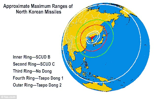 Worst-case scenario: North Korea's best hope to score a strike on a U.S. territory would be to fire the Taepodong-2 rocket, which could possibly make it to Alaska