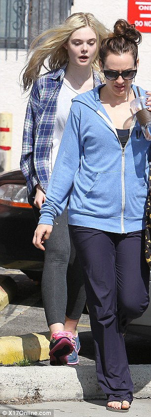 On the move: Elle slipped in another dance class with a friend on Saturday