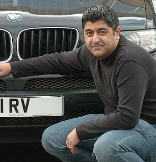 Wound up: Rakesh Verma, boss of Registrations 4 Vehicles Ltd.