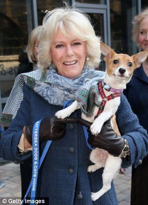 Camilla and her jack russell Bluebell