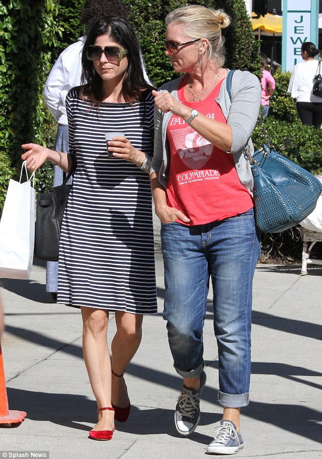 Family lunch: Selma Blair and her mom Molly took advantage of the sunny Saturday afternoon and enjoyed a nice lunch in Studio City, California