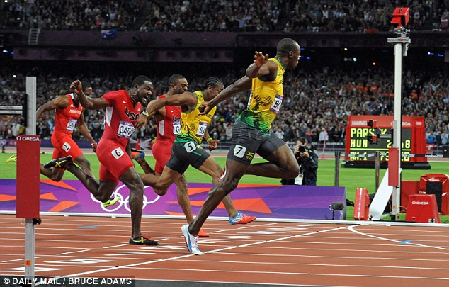 Too fast: Bolt sprinted to victory in the 100m and 200m at the London Olympics in 2012