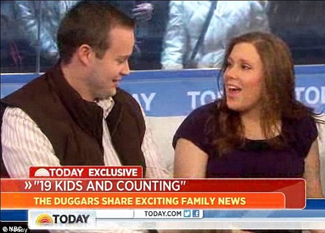 Baby news: The young couple originally announced news of their third pregnancy on the Today show but only revealed the sex of the child on Monday