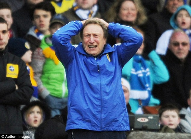 Time's up: There have been too many 'hands on head' moments since Warnock has been at Leeds