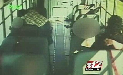Captured: Most of the incidents were caught on the bus' surveillance tape over a three-month period