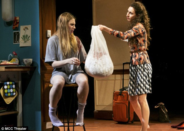 Pronounced 'zaw-shuh': The 25-year-old actress displayed Millennial angst in the drama, which was extended twice during its three-month run at the Lucille Lortel Theatre