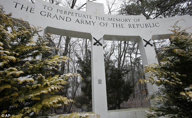 Forgotten: Only a small plaque in Manchester Township, New Jersey, stands to commemorate the Akron disaster