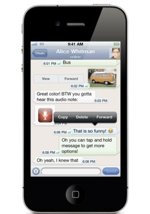 WhatsApp chat app