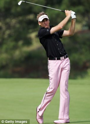 Trousers: Poulter opts for pink at The Players Championship at TPC Sawgrass in 2007