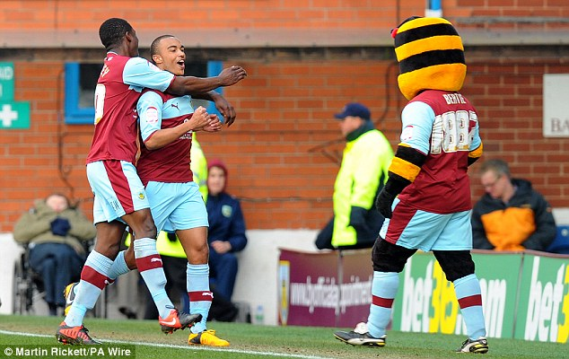 Difference: Stanislas gave Burnley the lead with just over 20 minutes to play at Turf Moor