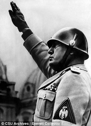 Drawn in: Benito Mussolini